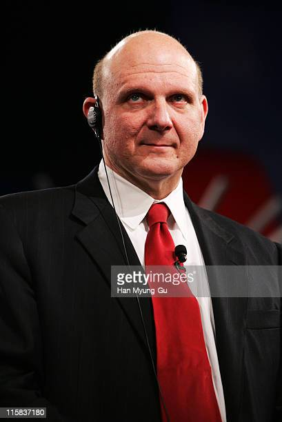 Microsoft Corporation CEO Steven A. Ballmer speaks during at the Seoul Digital Forum 2006 May 25 2006 in Seoul, South Korea.
