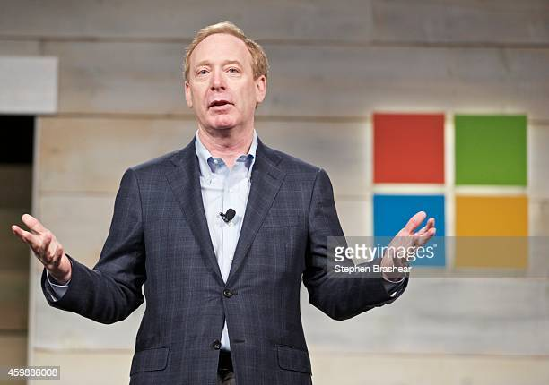 Microsoft General Counsel and Executive Vice President Brad Smith addresses shareholder during Microsoft Shareholders Meeting December 3 2014 in...