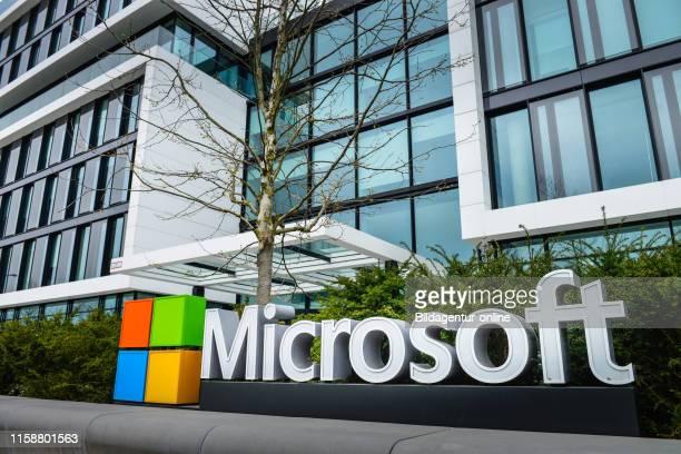 Microsoft Germanyzentrale, Walter-Gropius-Strasse, Schwabing, Munich, Bavaria, Germany.