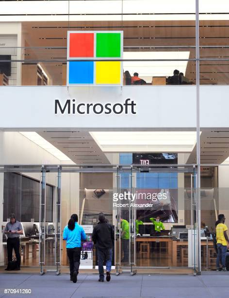 Microsoft store on Fifth Avenue in Midtown Manhattan New York City