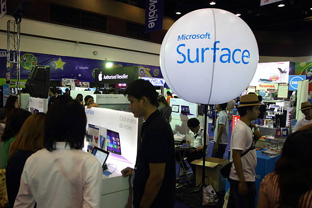 Microsoft surface on display at the Commart Next-Gen 2014 in
