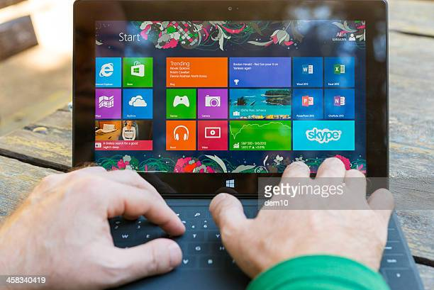 microsoft surface pro - windows 8 stock pictures, royalty-free photos & images