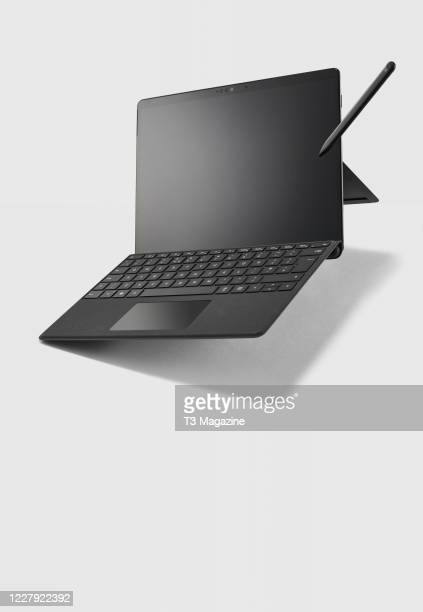Microsoft Surface Pro X tablet, keyboard and Surface Slim stylus, taken on January 7, 2020.
