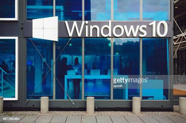 microsoft windows 10 pavilhão promoção - sistema operativo - fotografias e filmes do acervo