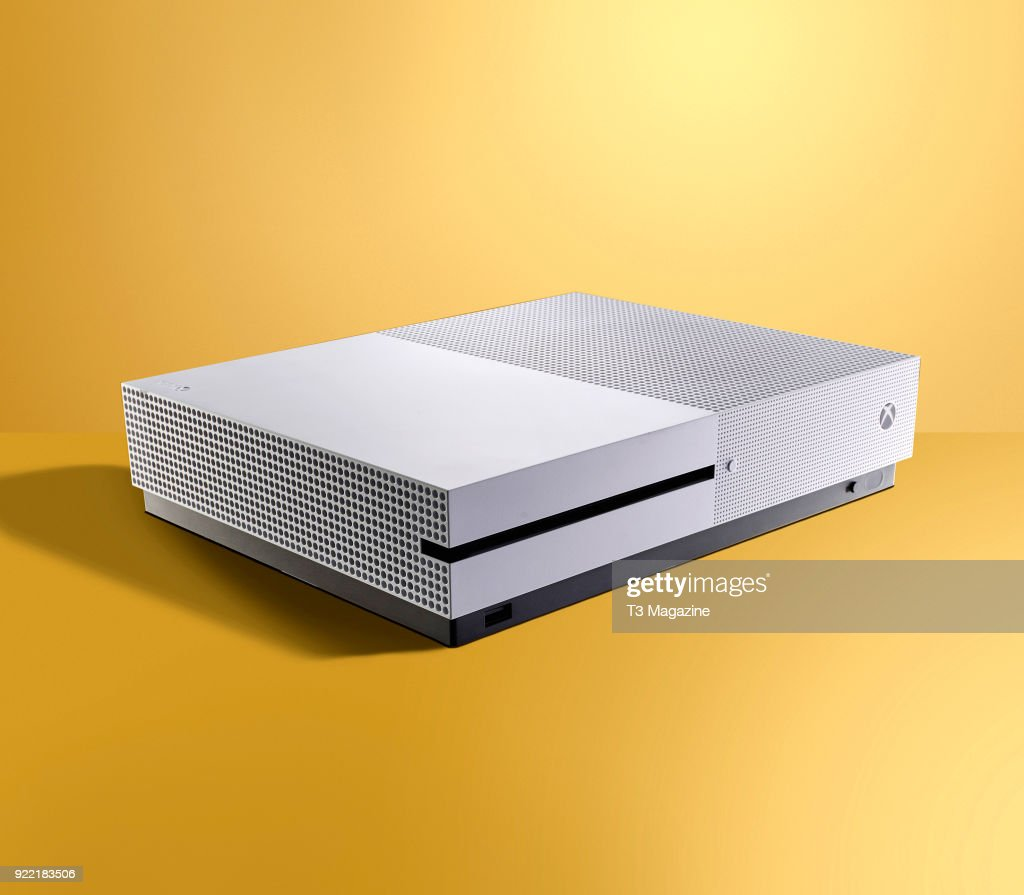 A Microsoft Xbox One S games console, taken on July 10, 2017.