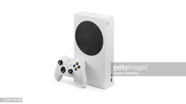 Microsoft Xbox Series S home video game console, taken on October 26, 2020.