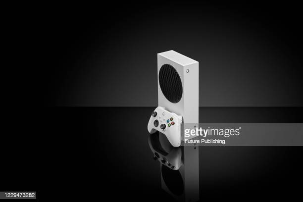Microsoft Xbox Series S home video game console, taken on October 27, 2020.