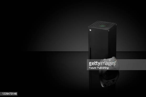 Microsoft Xbox Series X home video game console, taken on October 27, 2020.