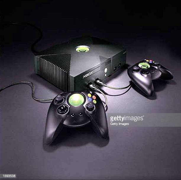 Microsoft's new Xbox video game February 12, 2001 in New York. The game will be available to the public in Fall 2001.