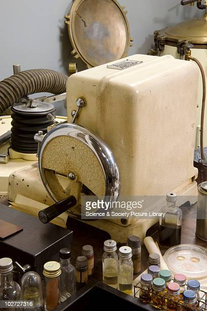 Microtome by Cambridge Instrument Co Ltd serial noC690004 the Huxley ultramicrotome Huxley ultramicrotome by Shardlow Micrometers Ltd Sheffield...