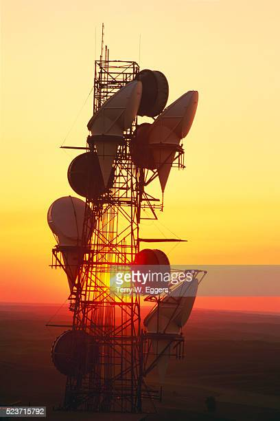 Microwave Tower at Sunset