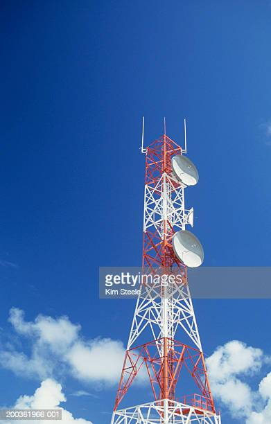 Microwave Tower; cable & wireless , low angle view