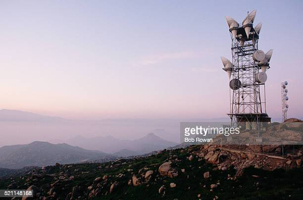 Microwave Tower on a Hilltop