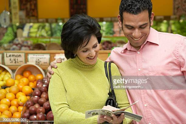 Mid adult couple in a supermarket