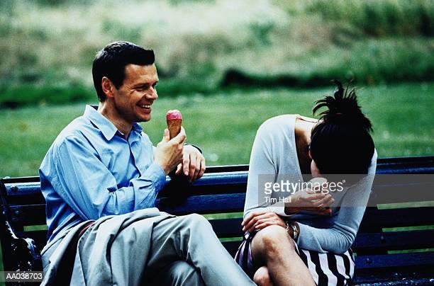 Mid Adult Couple With Ice Cream Cones