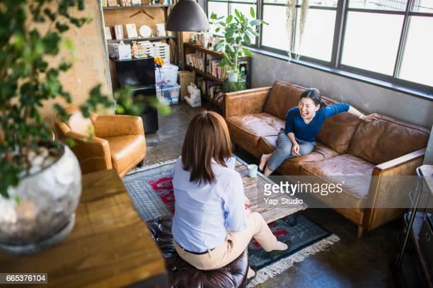 Mid adult female designers working in studio