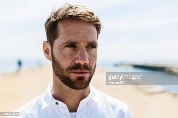 Mid adult man on the beach