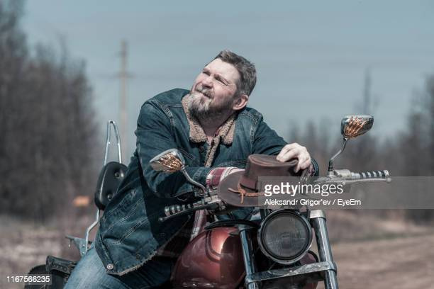 Fat Guy On Motorcycle