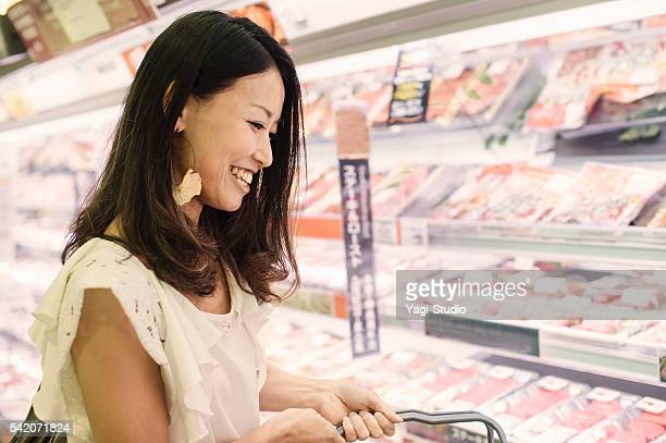 Mid adult woman in a supermarket