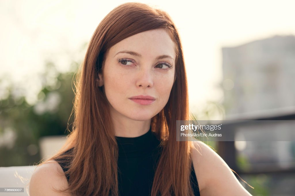 Mid adult woman, portrait : Stock Photo