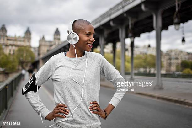 Mid femme adulte Runner listrening pour écouteurs à Paris