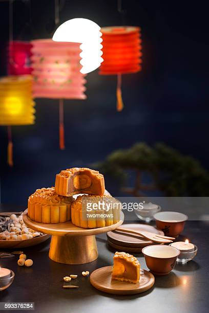 Mid autumn festival table top shot.