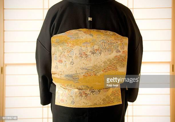 Mid Back Detail of Kimono