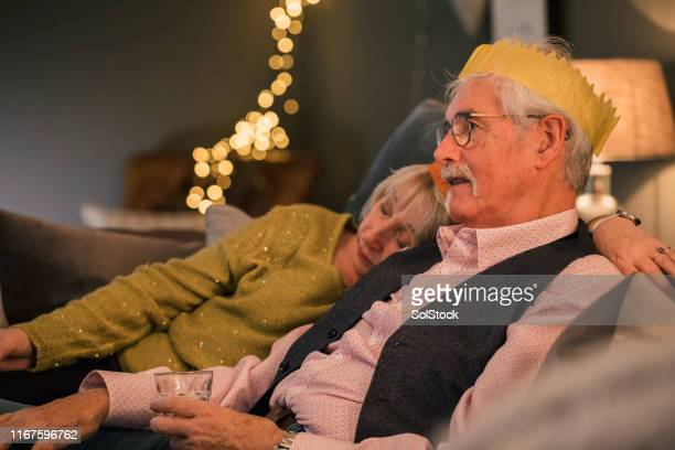 mid christmas nap - christmas stock pictures, royalty-free photos & images