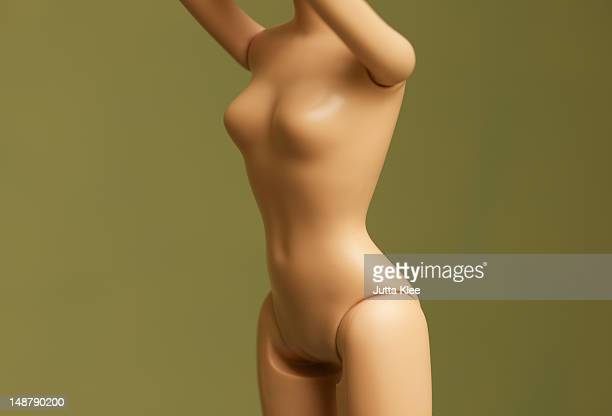 mid section shot of fashion doll body