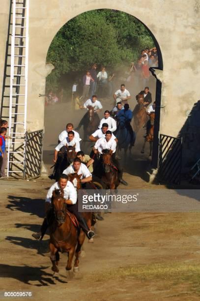 Mid summer feast Barbagia Sardinia Italy Europe