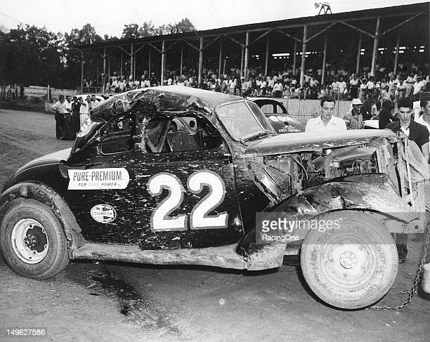 Although he enjoyed a lot of success racing Modified stock cars at the Greensboro Fairgrounds this was not one of driver Glen Wood's better days at...