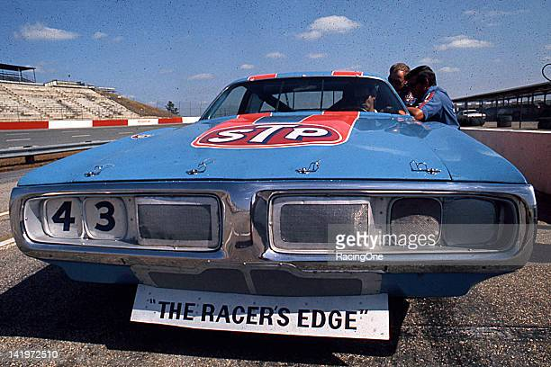 Richard Petty's STP Dodge Charger sits on pit road prior to a NASCAR Cup event