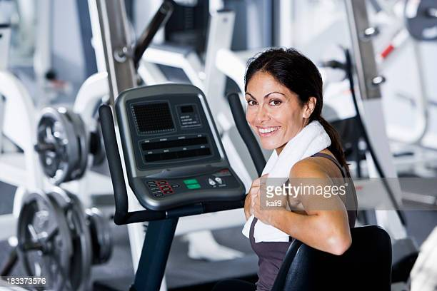 Mid-adult woman at the gym