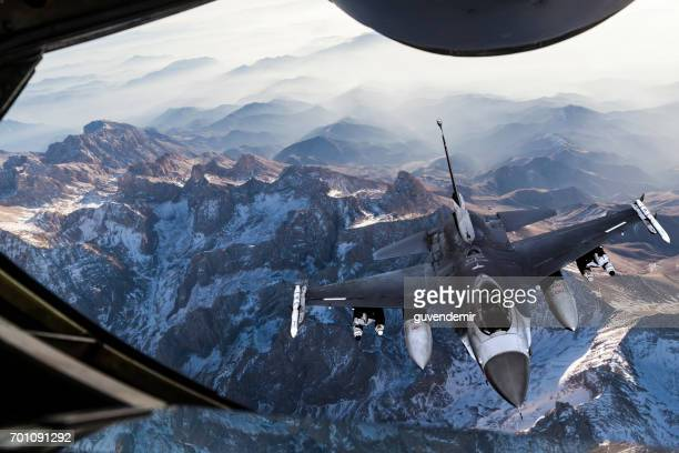 Mid-air Refueling over the mountains