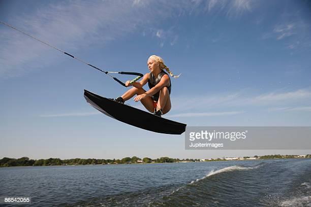 Midair wakeboarder