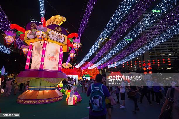 中秋節に香港 - ビクトリア公園 ストックフォトと画像