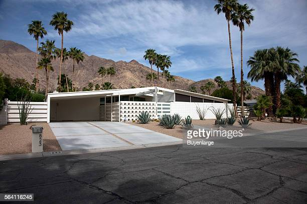 Midcentury modern home built by the Alexander Construction Company Palm Springs California