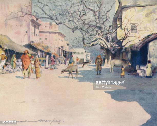 'Midday Jeypore' 1905 From India by Mortimer Menpes Text by Flora A Steel [Adam Charles Black London 1905] Artist Mortimer Luddington Menpes