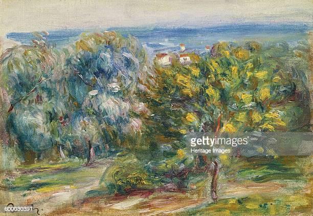 Midday Landscape, 1910. Private Collection. Artist : Renoir, Pierre Auguste .
