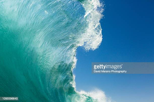 midday ocean wave - newport beach california stock pictures, royalty-free photos & images