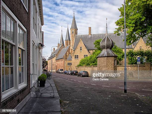 middeburg abbey - middelburg netherlands stock pictures, royalty-free photos & images