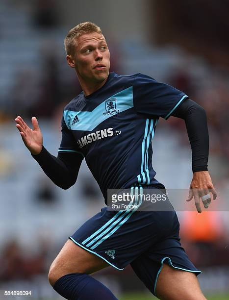 Middesbrough forward Viktor Fischer in action during the pre season friendly between Aston Villa and Middlesbrough at Villa Park on July 30 2016 in...
