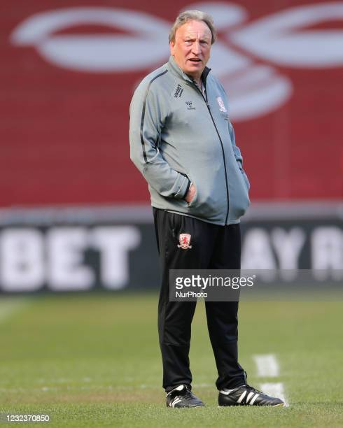 Middesbrough manager Neil Warnock during the Sky Bet Championship match between Middlesbrough and Queens Park Rangers at the Riverside Stadium,...