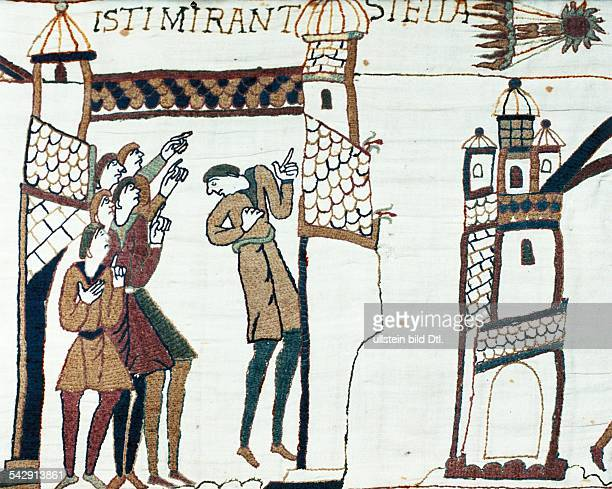 Middle Ages Bayeux Tapestry Depiction of Halley's Comet on the Bayeux Tapestry 1066