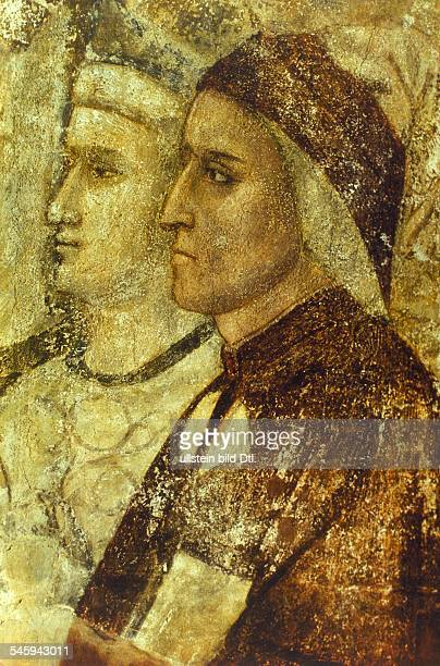 Middle Ages Mural paintings frescos Dante Alighieri May / June 126513091321 Poet Italy portrait / fresco by Giotto Florence 13th century