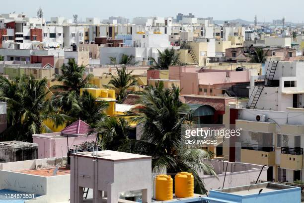 middle class locality in chennai city,tamilnadu,india - 南アジア ストックフォトと画像