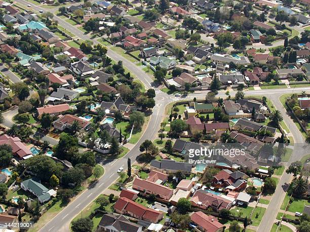 Middle class suburb from the air
