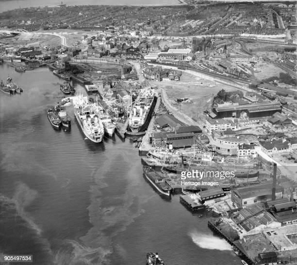 Middle Docks Engineering Company Ltd Ship Repair Yard Middle Docks South Shields Tyneside 1947 Artist Aerofilms