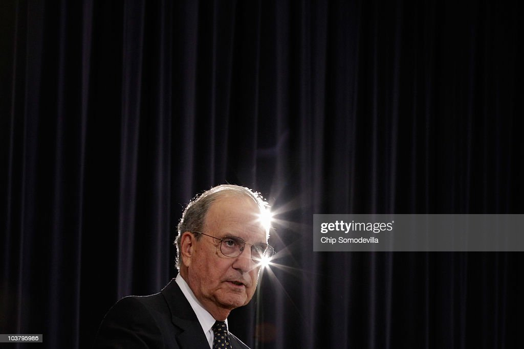 U.S. Middle East Envoy and Ambassador George Mitchell holds a news conference during the first day of direct trilateral negotiations between Israeli, Palestinian and U.S. leaders about a Middle East peace plan at the Department of State September 2, 2010 in Washington, DC. The Israeli and Palestinian leaders have started a new round of peace talks in Washington, the first one in more than 18 months.