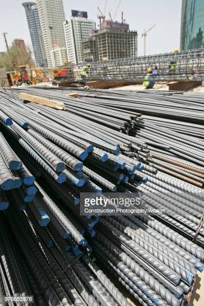 Middle East Foundations Piling Contractor at the MRT construction site in fron of the World Trade Center in shiekh Zayed Road Dubai United Arab...